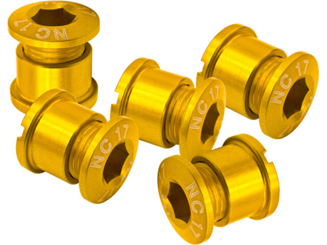 NC-17 Set of 5 94/104 Chainring Screw T6 4+5 hole gold
